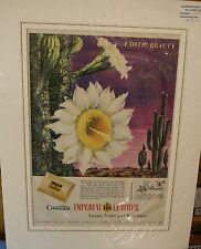 Original Vintage Advert mounted ready to frame Cussons Imperial Leather Soap