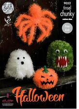 KING COLE 9052 SPOOKY HALLOWEEN KNITTING PATTERN(not the finished item