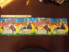 Brothers ~ Round Up Fireworks Label ~ Original Cake Great Art Collectible Cowboy