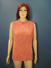 XL orange purple and pink crochet sleeveless stretchy blouse by CRAZY HORSE