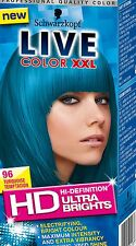 4X Schwarzkopf Live Color XXL HD Ultra Brights 96 TURQUOISE TEMPTATION
