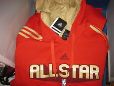 NWT ADIDAS NBA 2011 Allstar West pull over/PO Hoody flock hooded SZ XL