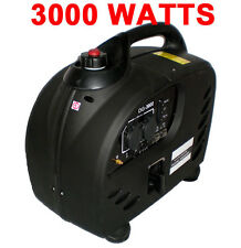 DIGITAL 3000 WATT GAS GENERATOR Pure SInewave INVERTER QUIET PORTABLE rv camping