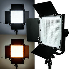 576 LEDs Light Panel Kit Photography Video Studio Lighting Dimmer Mount Photo US