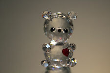 Silver Deer Crystal Zoo Teddy with Small Heart Faceted Clear Swarovski interest
