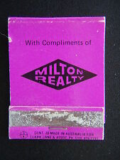 MILTON REALTY 2366 GOLD COAST HWY MERMAID BEACH 385588 MATCHBOOK