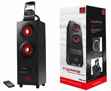 PSYC Torre 2.1 Portable Bluetooth Wireless Tower Bass Speaker / Phone Stand