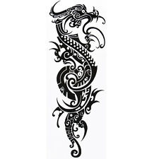 Full Arm Dargon Tribal Tattoo Temporary Stickers Body Art 3D Tatoo Waterproof