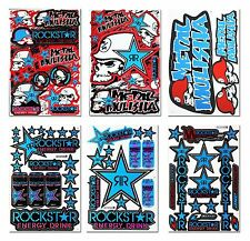 6X Metal Mulisha Rockstar Energy Racing Stickers Motocross Car Truck Decals