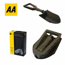 AA METAL WINTER SNOW SHOVEL VERY COMPACT & FOLDABLE SPADE CAR VAN TRAVEL UK