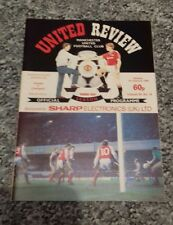 129) Manchester United v Liverpool programme division one 1-1-1989