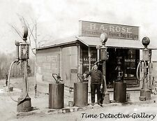Vintage Gas Station / Pumps - Mundy's Corner, Pennsylvania- Historic Photo Print