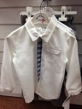BNWT Sarah Boys 2years Shirt And Blue Checked Tie