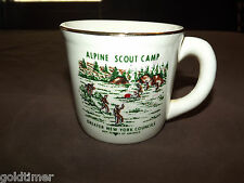 VINTAGE BSA BOY SCOUTS  COFFEE MUG ALPINE SCOUT CAMP GREATER NEW YORK COUNCILS