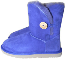 UGG Australia ' Bailey Button' Boot Fur Lined Shoe 11- 42 in Purple  Blue NEW
