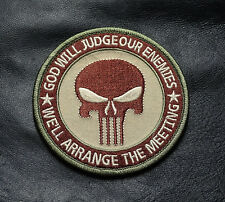 PUNISHER INFIDEL TACTICAL ACU 3.5 INCH EMBROIDERED MORALE HOOK PATCH