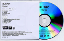 RUSKO Songs 2012 UK numbered 14-track promo test CD