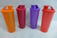 Tupperware Be Dazzled Tumbler Set Lot of 4 Seals Flip-Top 16-oz. Sparkly New
