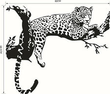 Black Leopard Mural Removable Wall Sticker Art Vinyl Decal Room Home Decor New