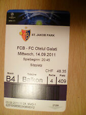 UEFA Champions League TICKET- BASEL v BENFICA LISSABON, 18 October, 2011