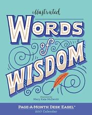Illustrated Words of Wisdom Page-A-Month Desk Easel Calendar 2017 9780761190028