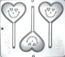 Heart with Smiley Face Lollipop Chocolate Candy Mold Valentine  3048 NEW