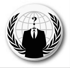 ANONYMOUS LOGO - 1 inch / 25mm Button Badge - Novelty Cute V Vendetta Protest