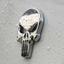 Punisher scull Crome car sticker de metal autoadhesivas Death Head bike auto