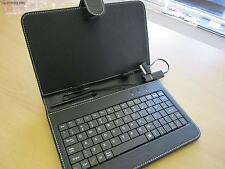 "Black 7"" Keyboard PU Leather Case/Stand for Samsung Galaxy Tab 7 7 inch Tablet"