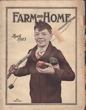 Farm and Home April 1923 Boy with Fishing Pole w/ML Gd 062316DBE