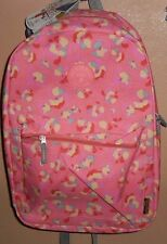"OLYMPIA CORNELL 18"" PINK FLOWERS SCHOOL BACKPACK LAPTOP SLEEVE WATER RESISTANT!"