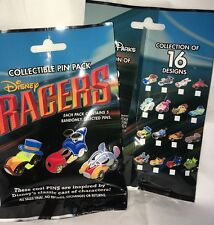 Disney Racers 2016 Character Mystery Collectible 5 Trading Pin Pack New