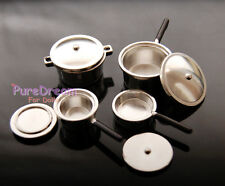 1:12 Scale Dollhouse Miniatures Kitchen Untensils Pot Pan Set of 8PCS