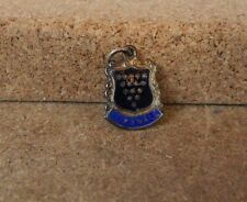 Cornwall  Coat of Arms  sterling Silver Enamel Charm 1960's vintage NOS