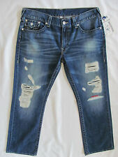 True Religion Straight Jeans-Flaps-Destroyed/Holes-Lose Myself-Size 40-NWT $251
