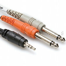 """Hosa Technology CMP-159 Stereo Breakout 1/8"""" TRS to Dual TS Y-Cable - 10ft"""