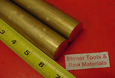 """2 Pieces 1-1/8"""" C360 BRASS SOLID ROUND ROD 6"""" long 1.125"""" H02 Lathe Bar Stock"""