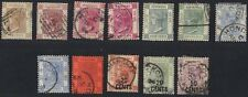 HONG KONG 1863-1891 COLL OF 12 VICTORIA ISSUES ALL VERY FINE USED INC SG 45-46