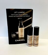 2 x CHANEL Lift Lumiere Firming & Smoothing Fluid Foundation SPF15 20 Clair