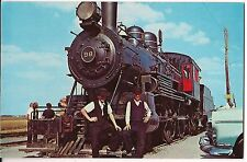 Amish Boys Cow-Catcher 98 Steam LOCOMOTIVE Train Strasburg Railroad Postcard  PA