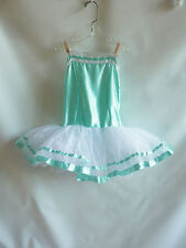 Ballet Tutu size 14C Icy Blue White Crinoline Dance Costume Leotard