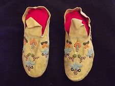 1117 1890S 1900 SANTEE SIOUX BEADED MOCCASINS