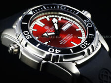 New Deep Blue 45mm Pro Aqua Automatic Sapphire Crystal 1500M Red Dial SS Watch