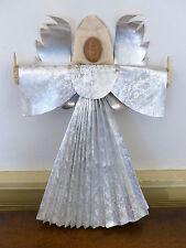 ANTIQUE Rare Vintage 1930 AUSTRIA Art Deco Christmas ANGEL TREE TOPPER Wax FOIL