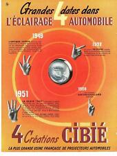 PUBLICITE ADVERTISING  1952   CIBIE  éclairage automobile