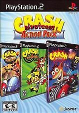 Crash Bandicoot Action Pack (Sony PlayStation 2, 2007) PS2 NEW Read Description