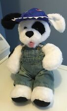 "16"" Build-A-Bear Workshop Plush Black & White Spot Puppy Dog 2014 Barks Wimpers"
