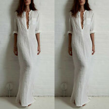 Women Summer Long Maxi BOHO Evening Party Dress Beach Dresses Sundress US SHIP