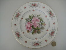 VERY RARE ROYAL ALBERT ENGLAND HAPPY BIRTHDAY  PLATE PRETTY FLORAL PINK ROSES