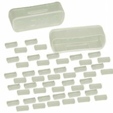 Lot of 50pc DVI Female Video Port Jack Snap-In Dust Cover Clear Color New